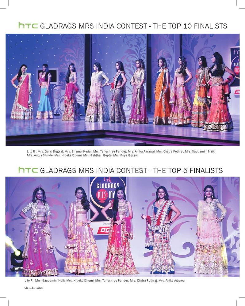 htc Gladrags Mrs.India 2015 Contest Top 10 And Top